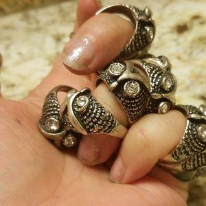 16 vintage owl rings!
